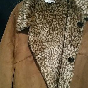 Isaac Mizrahi Faux suede/Fur Reversible